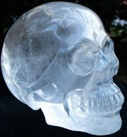 Quartz Crystal Skull 006d by SKULLKRAFT