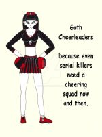Goth Cheerleader by Cerra-Angel