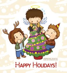 Spn- Wishing all a (Tree)Topping Christmas! by Oasis-sky