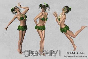 UNRESTRICTED - Green Fairy Tubes 1 by frozenstocks