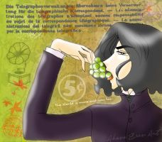 Severus and green grapes by AkaneZeen