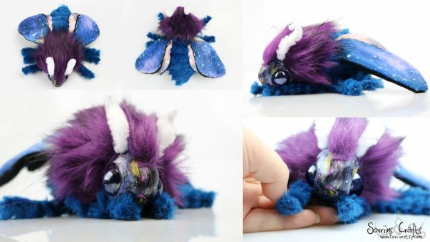 Nebulis the Galaxy Poodle Moth Art Doll FOR SALE by Sovriin