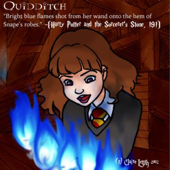Hermione's blue bell flames... by prismageek