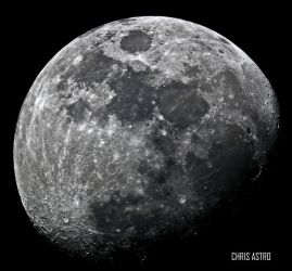 Waxing Gibbous Moon (Now Available for Download) by chrisastrophoto