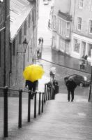 rainy umbrella in edinburgh by ronasf