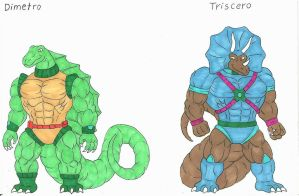Dinosaucers Upgrade 2 Dimetro, Triscero. by darkcolorfulspots