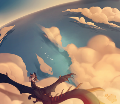 over the clouds by schl4fmuetze