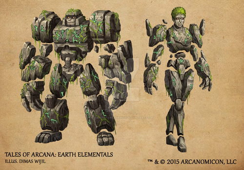 Tales of Arcana 1st Set - Earth Elementals by TalesofArcanaRPG