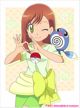 CM: Shelly131 ~ Miriam and Poliwag~ by KurumiErika