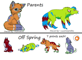 Bred Offspring 2 *CLOSED* by LuxaAdoptables