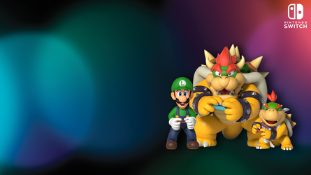 Nintendo Switch - Team Green Shell Wallpaper by BowserSpears