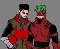 Red Hood and Arsenal by Jasontodd1fan