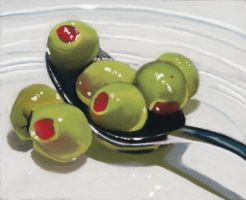 olives on a spoon by classina
