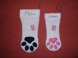 Commisions of Animal Paw stocking by Ishtar-Creations