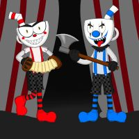 Killer Clown Cups by SqueakyNoodle