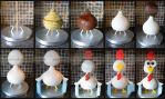 3D Chicken Cake Stages by ginas-cakes