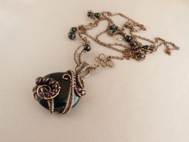 Black rose by UrsulaJewelry