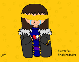 FlowerFell Frisk(REDRAW) by lovetrouble123