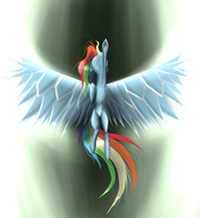 Rainbow Dash's Ascension by killamnjaro