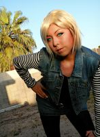 Android 18 cosplay by Oniakako