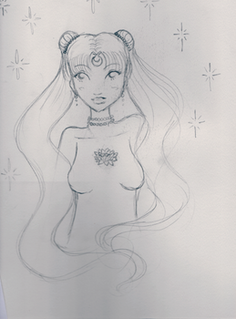 WIP Princess of the Moon and Stars Rederaw by girlcanrock
