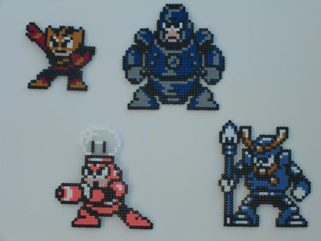 Megaman bead bosses 12 by zaghrenaut