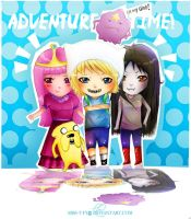 Adventure Time Chibis by Miss-T-fy