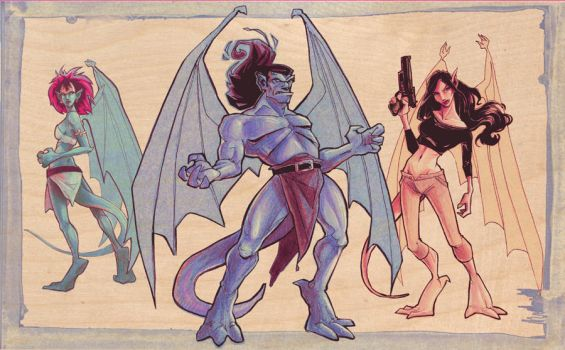 Gargoyles RETURN by brainleakage