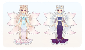 [CLOSED] Winter Kitsune - Set Price by Psycheia