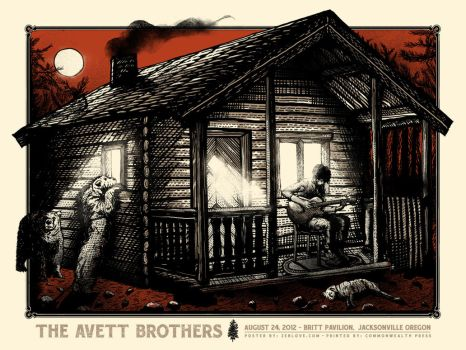 The Avett Brothers - Gigposter OR by xzebulonx