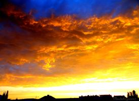 Fire Waves in the Sky - Golden Skies by Cloudwhisperer67