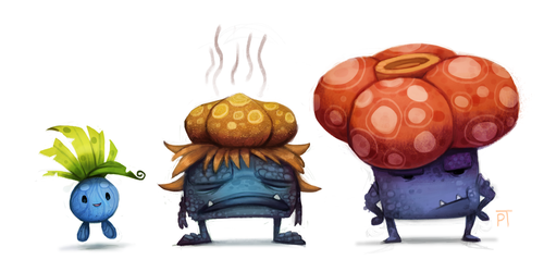DAY 455. Kanto 043 - 044 - 045 by Cryptid-Creations