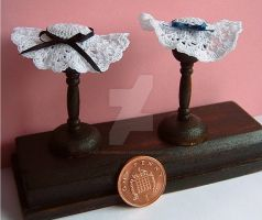 1:12th scale Crochet hats by buttercupminiatures
