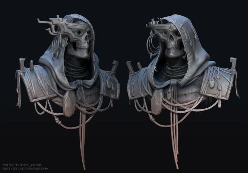 Undead priest sculpt by FirstKeeper