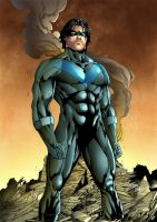 Nightwing Color by leonartgondim