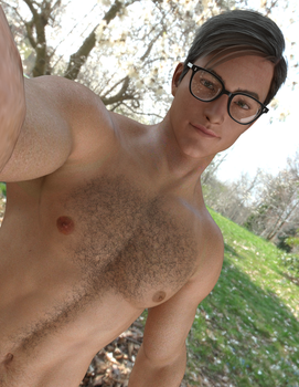 Shirtless Selfie with Glasses by timberoo