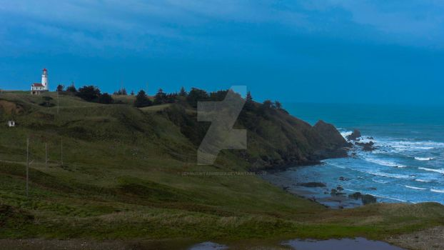 Cape Blanco Lighthouse Landscape by zenmountainmedia