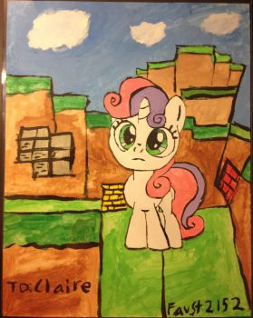 Sweetie Bell Minecraft by faust2152
