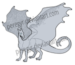Another Pern Dragon Template by peregyr