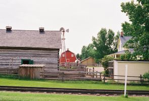 Railroad Tracks at Heritage Park by Texas1964