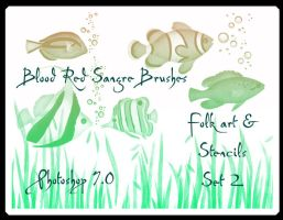 Folk and Stencil Set 2 by Sangre-brushes