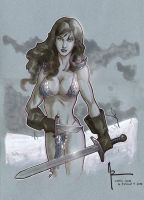 Red Sonja, Convention Sketch by Guy-Bigbelly