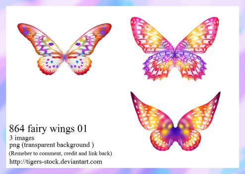 864 Fairy Wings 01  by Tigers-stock