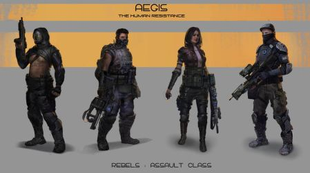 Aegis-Assault characters by Giby-Joseph