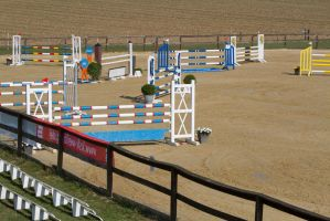 Show Jumping Competition Arena Judges' View by LuDa-Stock