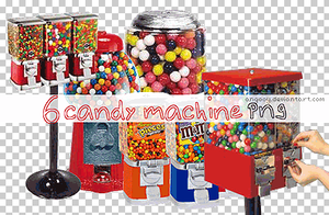 6 candy machine png by ANGOOY