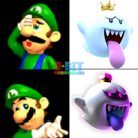 Luigi's Reaction to King Boo's Appearances by PxlCobit