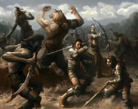 Battle for valley by Gworld