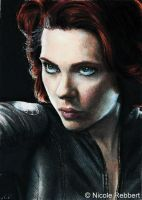 Black Widow sketch card by Quelchii