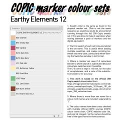 COPIC marker colour set - Earthy Elements 12 by d-signer